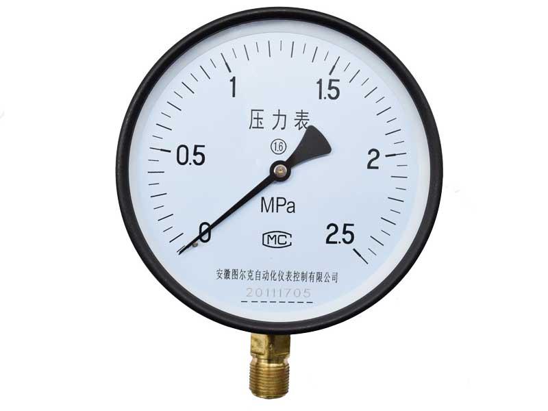 Y-100径向普通压力表