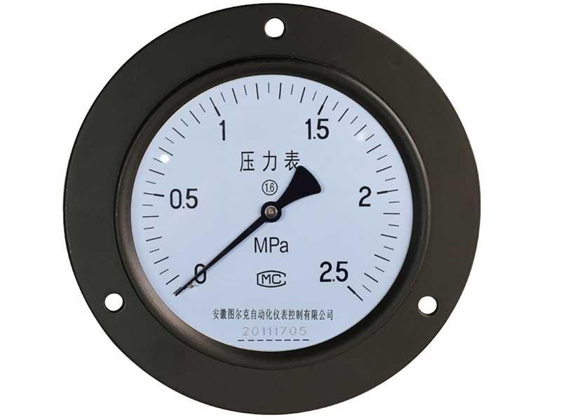 Y-150ZT轴向带边普通压力表