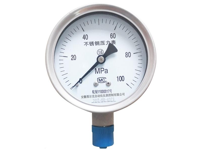 Y-100B-F耐腐蚀不锈钢压力表