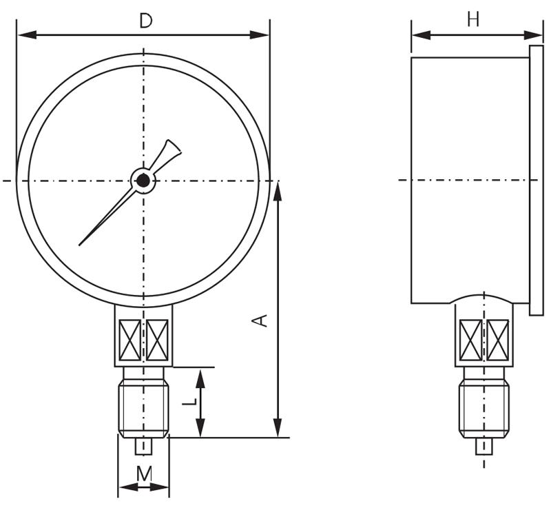 Y-150B-F,不锈钢压力表,径向不锈钢压力表,耐腐蚀不锈钢压力表