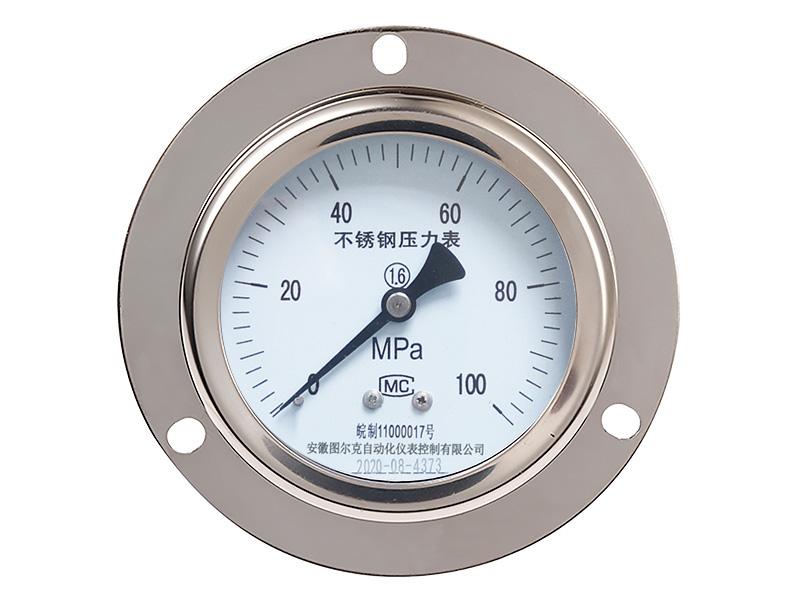 Y-103B-F轴向耐腐蚀不锈钢压力表