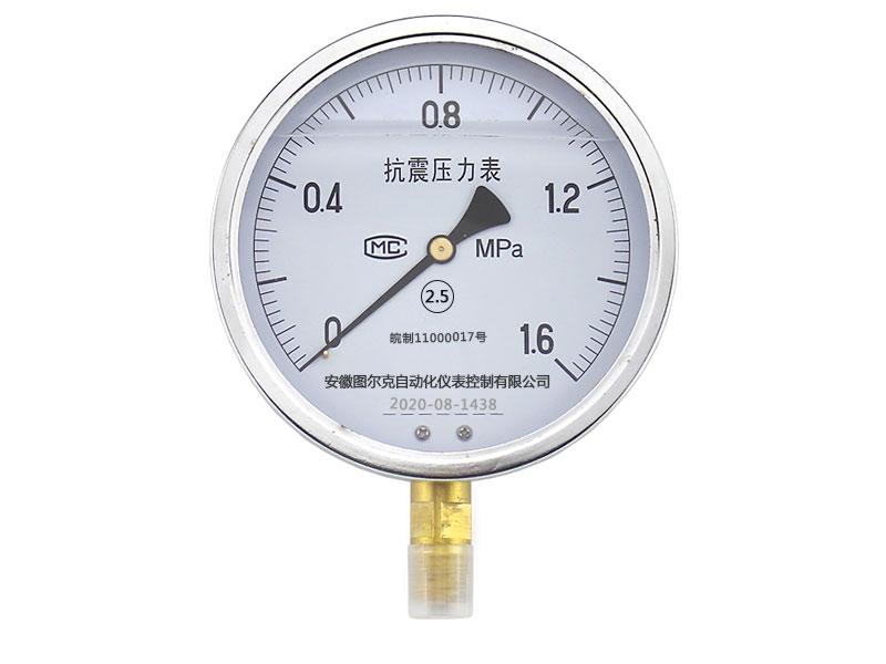 YTN-60B径向不锈钢耐震压力表