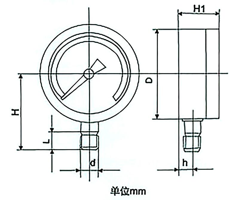 YTN-150径向耐震压力表,YTN-150耐震压力表,YTN-150不锈钢耐震压力表
