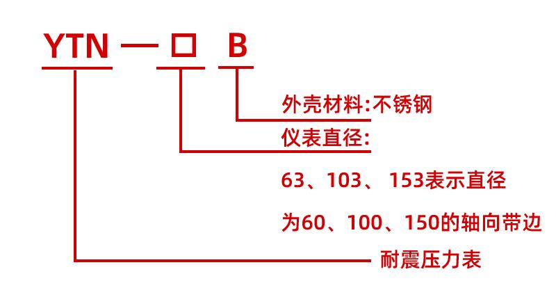 YTN-100B径向耐震压力表,YTN-100B耐震压力表,YTN-100B不锈钢耐震压力表