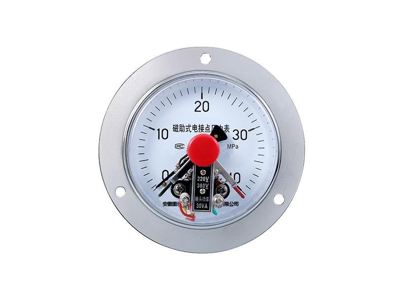 YXC-153轴向带边CIZ磁助式电接点压力表