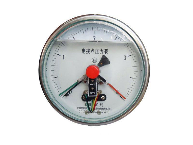 YXC-102-F轴向耐腐蚀CIZ磁助电接点压力表