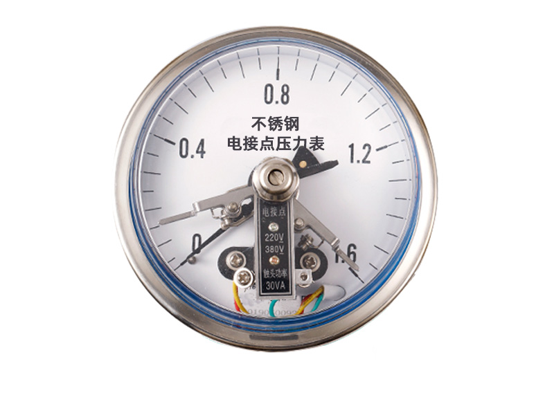 YXC-152B-F耐腐蚀轴向不锈钢CIZ磁助式电接点压力表
