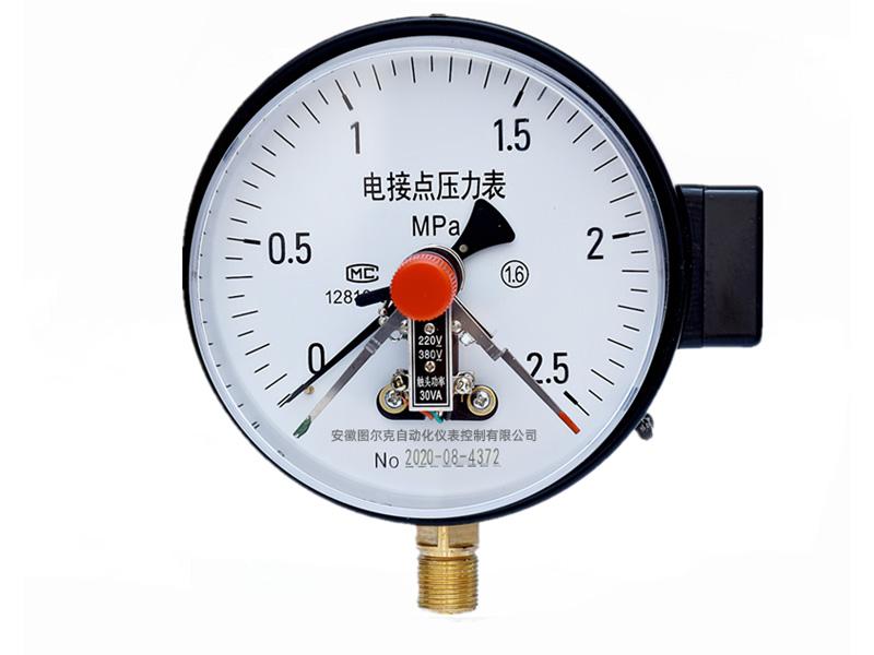 磁助式电接点压力表怎么接线