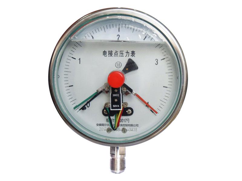 电接点压力表如何接线?