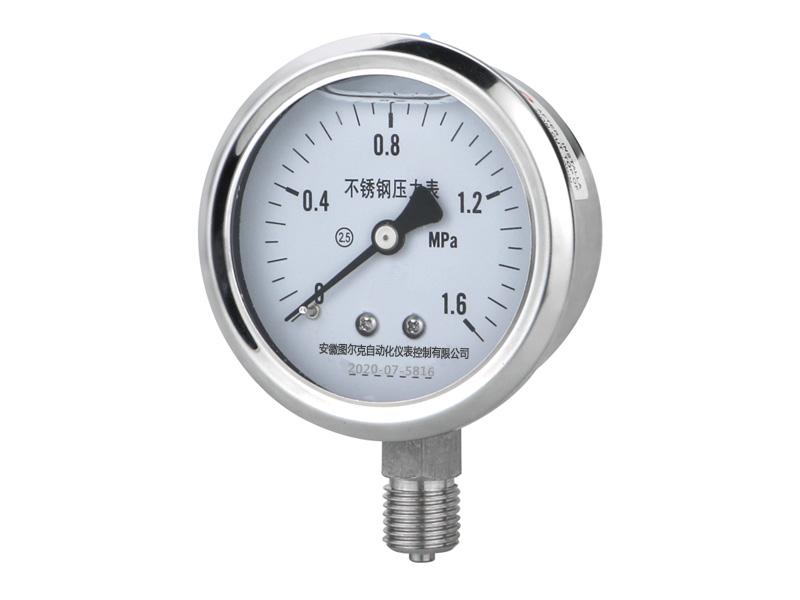 不锈钢压力表的正确选用